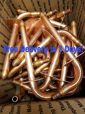 """(20) Copper Stub Out Elbows for 1/2"""" PEX Tubing, with Ear, 3-1/2"""" x 8"""""""