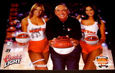2001 Hooters Girls Uniform Basketball Poster March Madness Dick Vital Coors beer