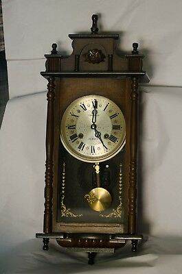 Vintage grandfather clock 19th Wood Antique Imperial Original & still working