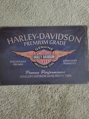 Wall Decor Metal Tin SIGN Plaque HARLEY DAVIDSON MOTORCYCLES Premium Grade