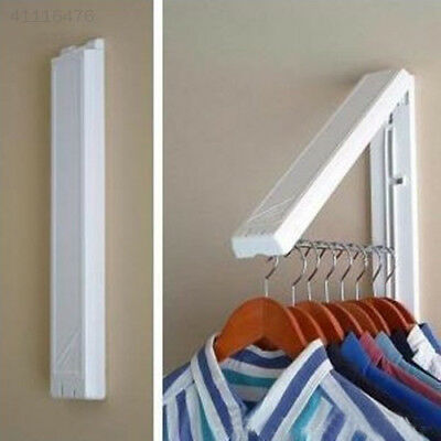 New Stainless Folding Wall Hanger Retractable Hangers Clothes Rack Towel