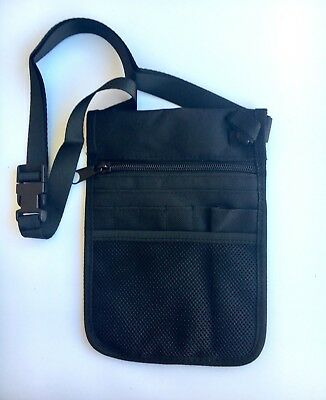 Nurse Pouch BLACK - Handy Utility bag pocket teacher,nurses,vets,physio