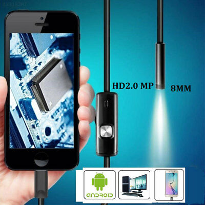 1m 8mm Android OTG Phone 2MP Endoscope Waterproof LED Tube Snake Camera
