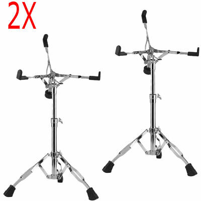 2 Pack Cymbal Boom Stand Drum Hardware Double Braced Arm Chrome Percussion