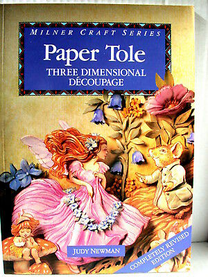 PAPER TOLE 3D DIMENSIONAL DECOUPAGE FAIRIES JUDY NEWMAN  Milner Craft Series  SC