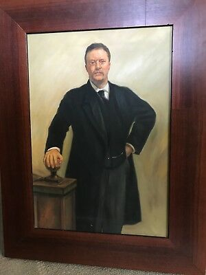 Theodore Teddy Roosevelt painting w frame