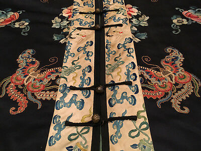 An Excellent Chinese Qing Dynasty Embroidered Textile Butterfly Lady's Robe.