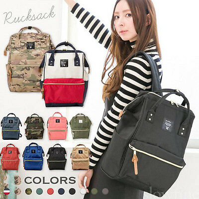 Japan Anello Large Unisex Backpack Waterproof Travel Rucksack School Bag Laptop
