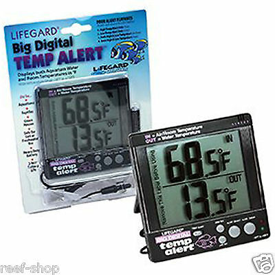 Lifegard Big Time & Temp Digital Aquarium Thermometer Fast Free USA Shipping