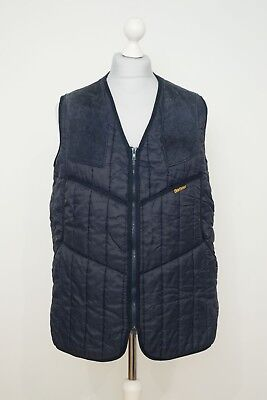 Barbour Quilted Hunting Shooting Vest Gilet Waistcoat Green Size M