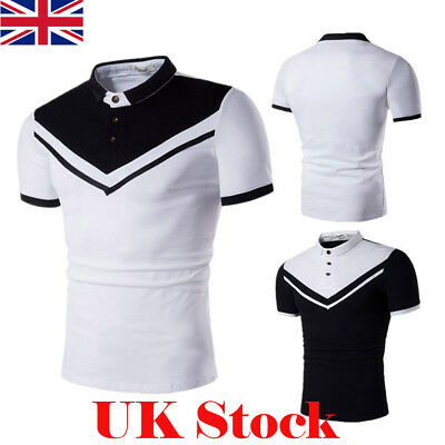 UK Mens Casual Short Sleeve Top Tee Boys Summer Polo Slim Fit T-Shirt Tops New