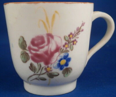 Rare 18thC Chantilly French Soft Paste Porcelain Floral Cup Porcelaine Tasse