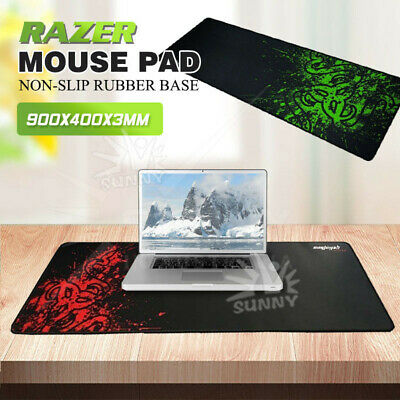 Razer PC Computer Desktop Mouse Mat Extra Large Pad Gaming Keyboard Mouse