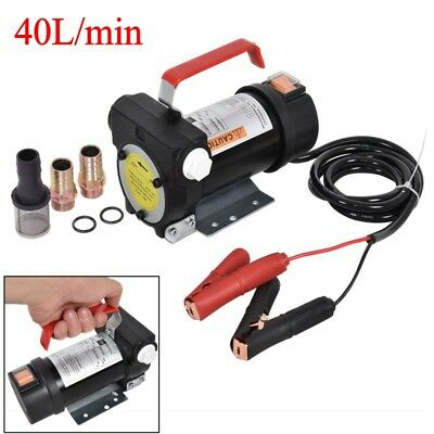 Portable 12V Diesel Fluid Extractor Electric Transfer Pump Car Fuel Self-service