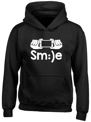 Smile Selfie Boys Girls Kids Childrens Hoodie