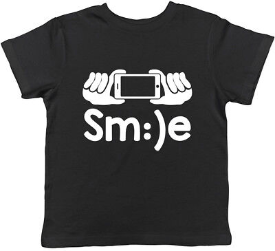 Smile Selfie Boys Girls Kids Childrens T-Shirt