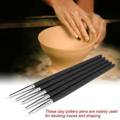 5PCS Silicone Pen Pottery Tool Craft DIY Set for Sculpting & Molding Clay NEW