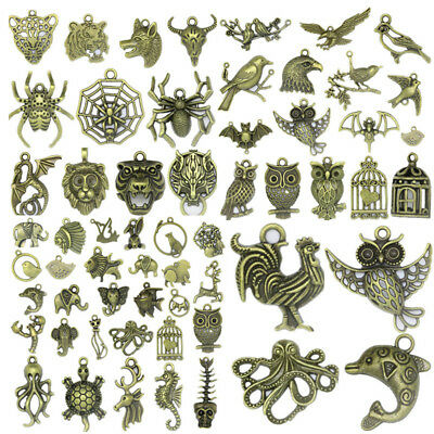 70 Styles Antique Bronze Animals Charms Jewelry Crafts DIY Finding Pendant F