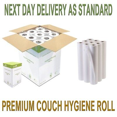 """Premium Quality White 20"""" Couch Hygiene Roll (12 Rolls) FREE NEXT DAY DELIVERY"""
