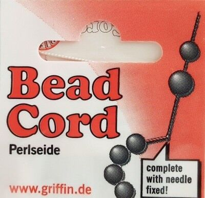 Griffin Silk Jewellery Thread Pearl Bead Stringing Sizes 6-14 Various Colours