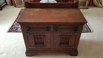 Antique Gothic Style Phone Table Cupboard