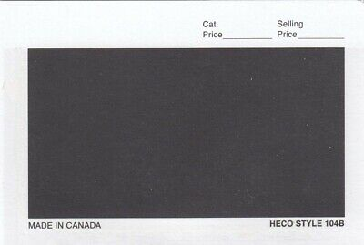 HECO Stamp Dealer Cards 104B 4 7/8 x 3 1/4 Black Archival Quality Box Of 1000