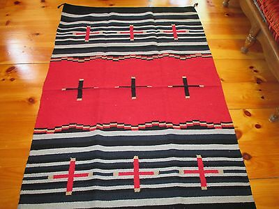 Navajo Design/Southwestern Acrylic Rug or Wall Hanging   4  x  6  FT Cross