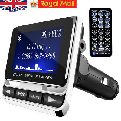 FM Transmitter MP3 Bluetooth Radio Adapter Audio Car Kit with USB Charger Remote