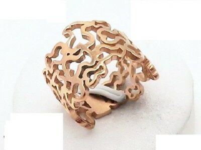 High quality Stainless steel 16mm wide Hopllow Lovely Bear Rings