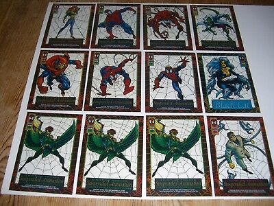 1994 Marvel SPIDER-MAN Suspended Animation 12 Cards Vulture Repeats