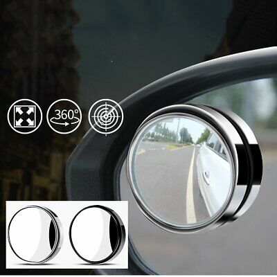 1pair Universal Car 360°Wide Angle Rear Side Mirror Convex Blind Spot Mirror
