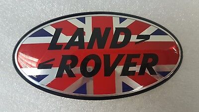 LR Discovery/Defender/Autobiography/Vogue Badge Union Jack Style 105 mm x 53 mm