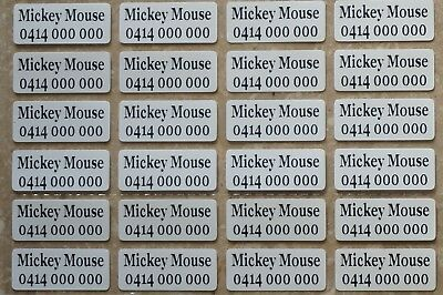 IRON ON Personalised Name Stickers / Label for clothing, 2.2 X 0.9 CM waterproof
