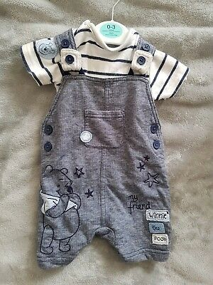 0-3 Months Winnie the pooh Dungarees Short Summer boys