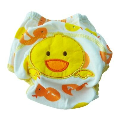 Diaper cloth diaper diaper over trousers Cotton Diaper Pants Baby M (duck) E7Z4