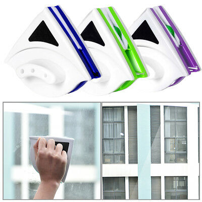 UK Double Side Magnetic Window Cleaner Glass Surface Wiper Cleaning Brush RT5V