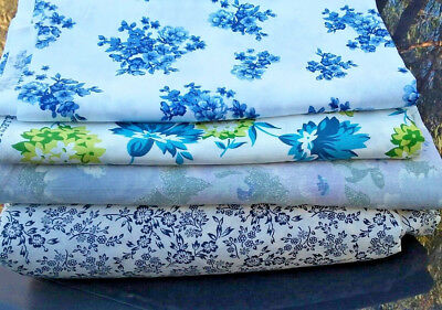 Bulk Lot Vintage Retro Floral Pattern Sheets Doona Cover Material Fabric Cotton