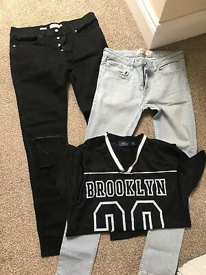 Bundle Topman Clothes.  Stretch Skinny, Spray On Skinny Jeans 32 Top Medium