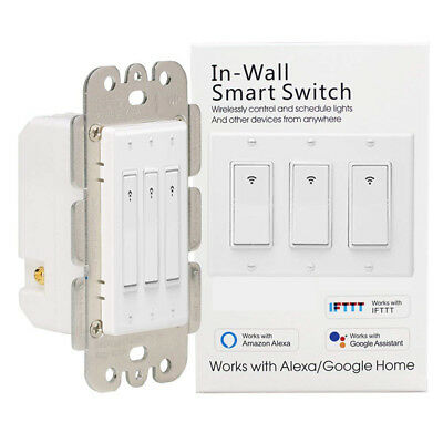 WIFI Smart Wall US Switch Touch APP Voice Control By Alexa Google 1/2/3 Gang OB1