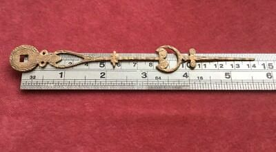 Brass Antique Grandfather Clock Minute Hand  143mm Long