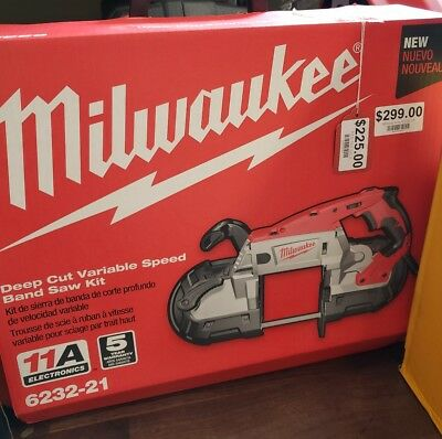 Milwaukee Deep Cut Portable Variable Speed Band Saw with Case 6232-21