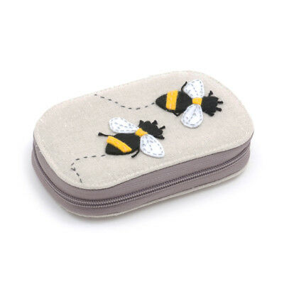 Bee Themed Appliqué Zip Sewing Case with Contents