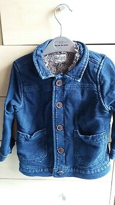 Next boys Demin jacket with furry lining. Age 1.5-2 years. VGC