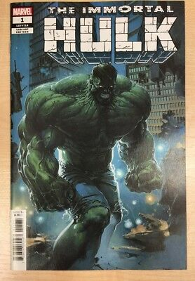 Immortal Hulk #1 - Clayton Crain cover - 1:25 variant - Bagged & Boarded