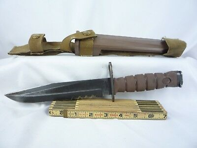 USMC OKC 3S Combat Bayonet Knife Ontario Knife Company w/Sheath USA BUYERS ONLY