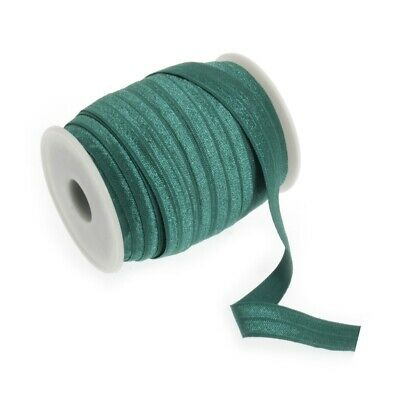 Fold Over Elastic - 16mm - Forest Green - Per Metre