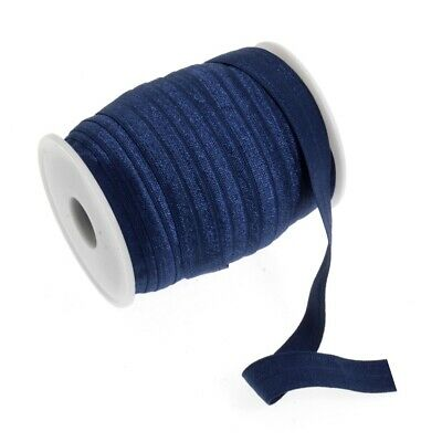 Fold Over Elastic - 16mm - Dark Blue - Per Metre