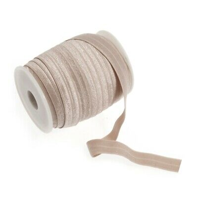 Fold Over Elastic - 16mm - Nude - Per Metre