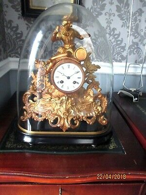 "Imposing French 8 Day Striking Clock by "" Henri Marc "" circa. 1880s."