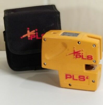 Pacific Laser Systems PLS 4 Cross Beam Plumb Line Laser w/ Case-Tested